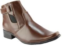 Wave Walk Narrow Toed Boots(Tan)