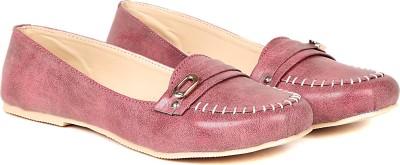 TEN TEN Women's Peach/Mauve Loafers Loafers