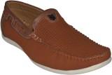 Human Steps Polka Print Loafers (Tan)