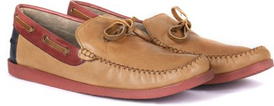 Knotty Derby Quoddy Slipon Loafers(Maroon, Tan)