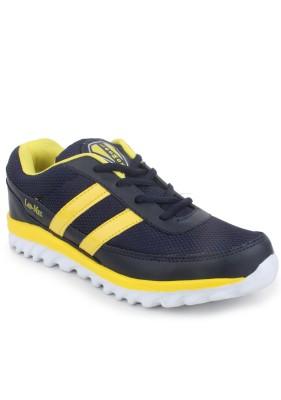 Leo-Max Navy-Yellow Men Sports Running Shoes