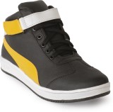 ANAV Casual Shoes (Black, Yellow)