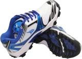 Mayor Kent Cricket Shoes (White, Blue)