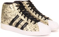 Adidas SUPERSTAR UP W Sneakers(Black, Gold, White)