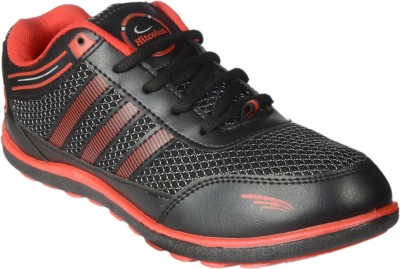 Hitcolus Black & Red Casual Shoes