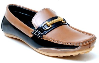 Oora Dashing Tan With Black Combination Loafers