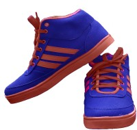 StyleToss Blue and Red Sneakers