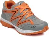 Ten Grey::Orange Mesh Sports Shoes Runni...