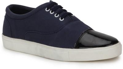 Kosher Kosher Mens KCSC011-BLUE Canvas Lace-up Sneakers