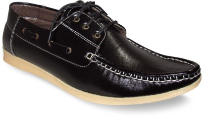 Sapatos Synthetic Leather stylish Black Casual Shoes