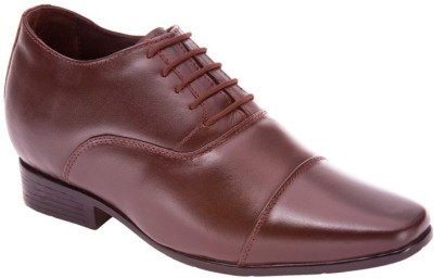 Elevato Brown Cristiano Formal Height Inreasing Shoes Lace Up