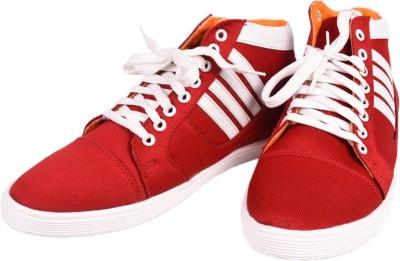 Felando 605-Red-6 Canvas Shoes