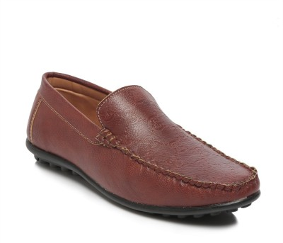 TEN Brown Faux / Synthetic Leather Loafers Loafers