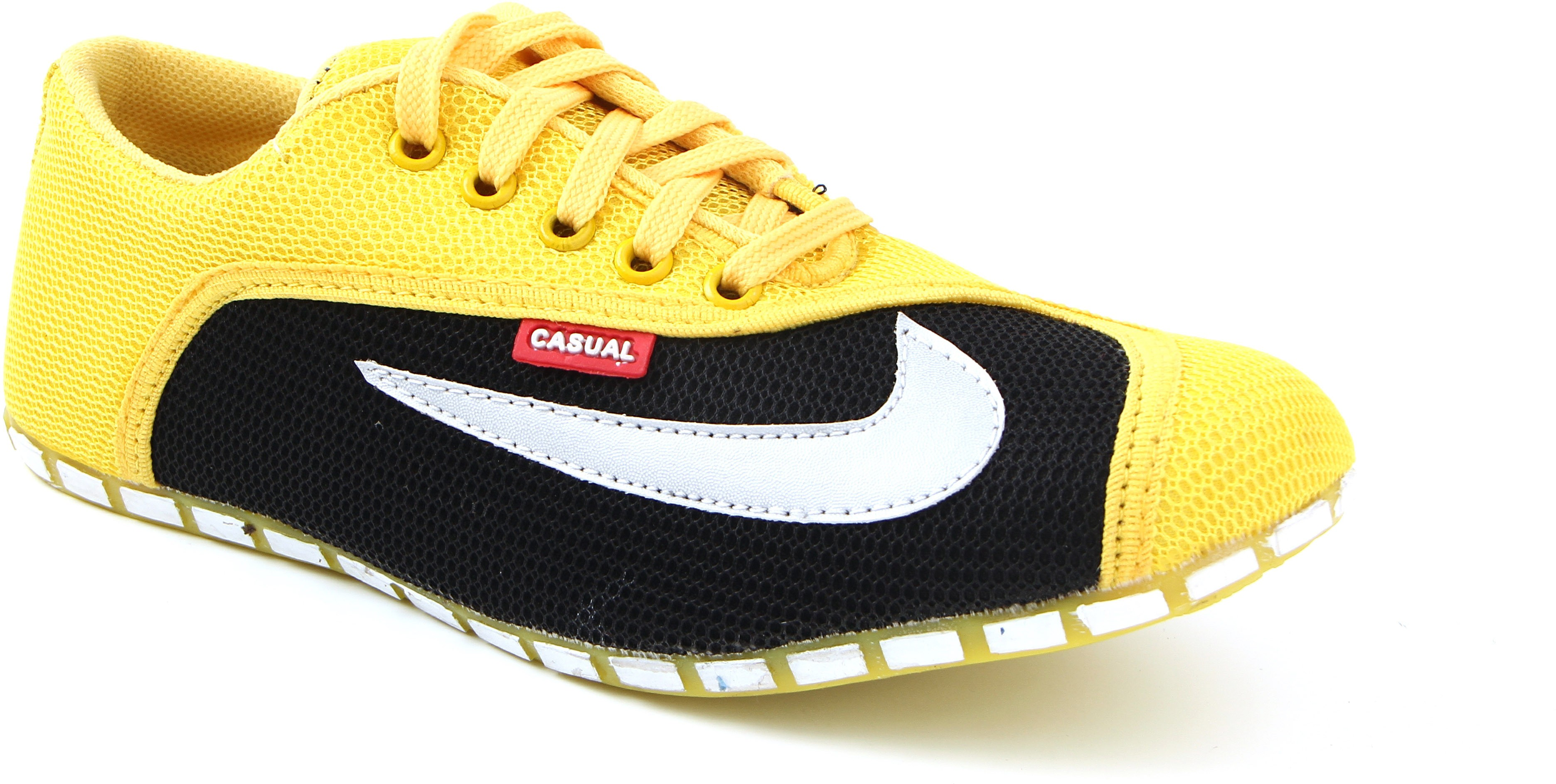 World Walker Casual Shoes Casuals(Yellow)