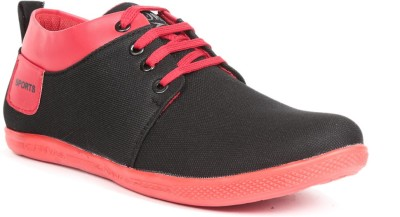 Golden Sparrow Trendy Casual Shoes(Black, Red)