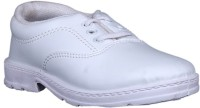 Dynamic Boys School Shoes White 2001 Lace Up Shoes