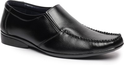 Feather Leather Genuine Leather Black Formal Shoes 040 Slip On Shoes