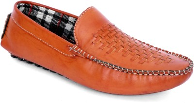 Woodlark Brown Synthetic Leather Loafers