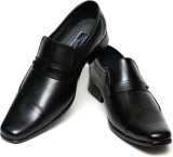 C Comfort Leather Slip On Shoes (Black)