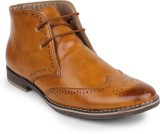 Styx Mens Brogue Party Wear Shoes (Tan)