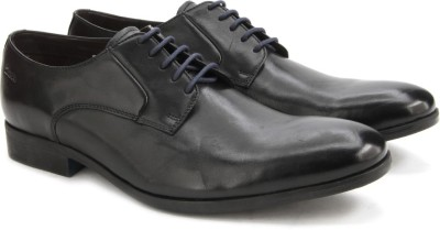 Clarks Banfield Walk Black Leather lace up
