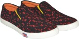 Human Steps Printed Loafers (Red)