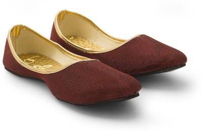 Little India Women Traditional Stylish Maroon Ballerina Sandals 308 Jutis