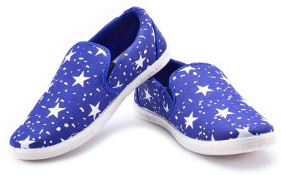 Chevit Duke Blue Mocassins Canvas Shoes
