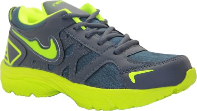 Stepin Soles Neon-4 Grey/Green Running Shoes