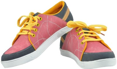 Alpha Man Domestic Pink Synthetic Casual Shoes