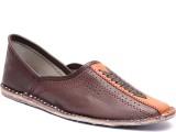 Paduki Ethnic Footwear Mojaris (Brown)