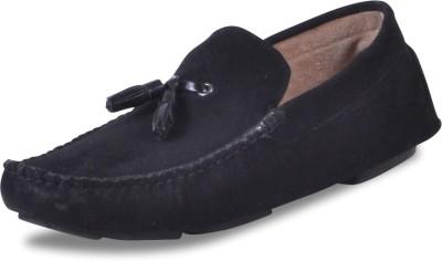Harper Woods Black Suede Tassle Loafers Driving Shoes