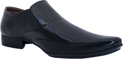 Adam Step Black Slip On Shoes