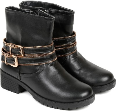 TEN Black Leather Boot Boots