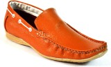 BLK LEATHER Loafers (Tan)