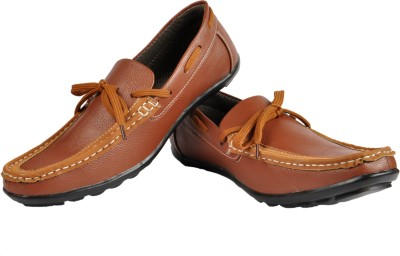 NY Eagle NY Brown Laced Slip On Loafers Casuals