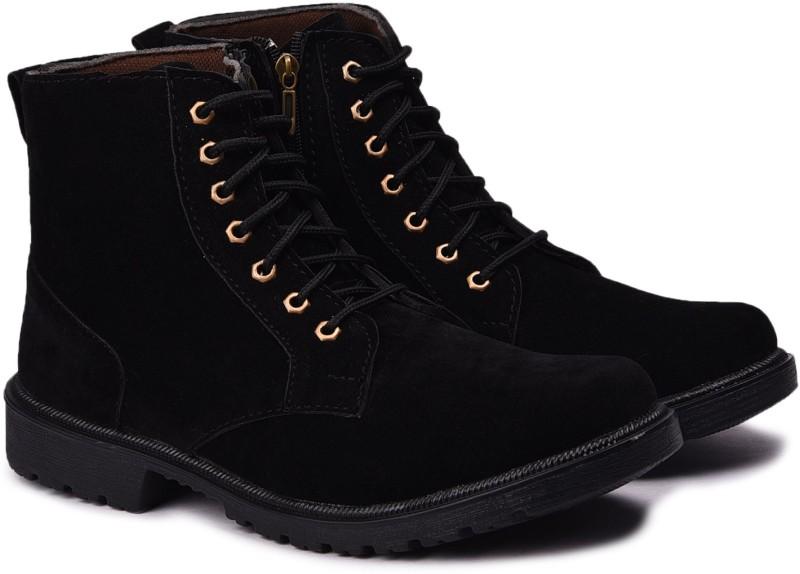 Andrew Scott Men's Black Boots(Black)