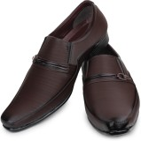 Shoetopia Slip On Shoes (Brown)