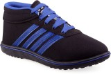 Wepro Canvas Blue Casual Shoes (Black)