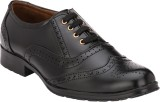 Letjio Brogues PU Lace Up (Black)