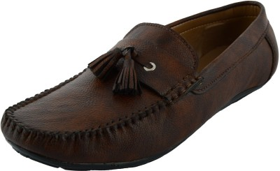 VOGUE GUYS brown simple lace repit loafer Loafers