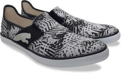 Puma Lazy Slip On Graphic DP Sneakers(Black)