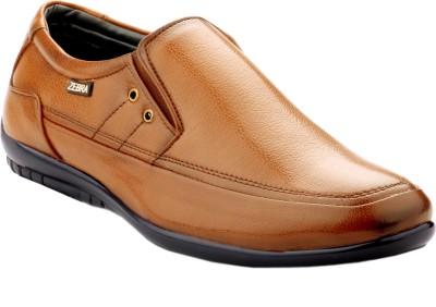 Zebra Italiano Men's New Teak Color Exclusive Edition Formal Shoes. Slip On