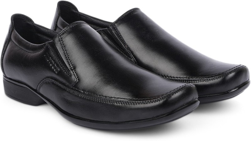 Provogue Genuine Leather Slip on ShoesBlack