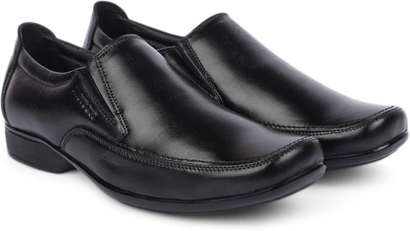 Provogue Genuine Leather Slip on ShoesBlack SHOEMGXREYYMGY6B