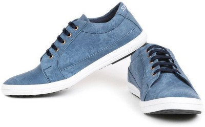 Red Rose Stylish & Comfort Look Men,s Sea Blue Lace Up Canvas Shoes