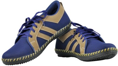 Alpha Man Navy Casuals Shoes