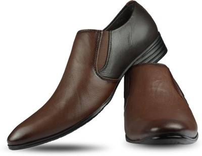 Blue Harpers Stylish Brown Slip On Shoes