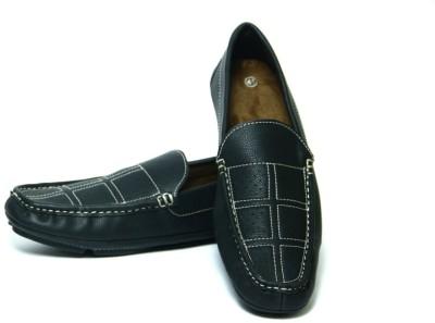 Mori Driving Black Loafers