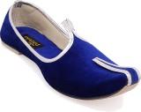 Paduki Ethnic Footwear Mojaris (Blue)